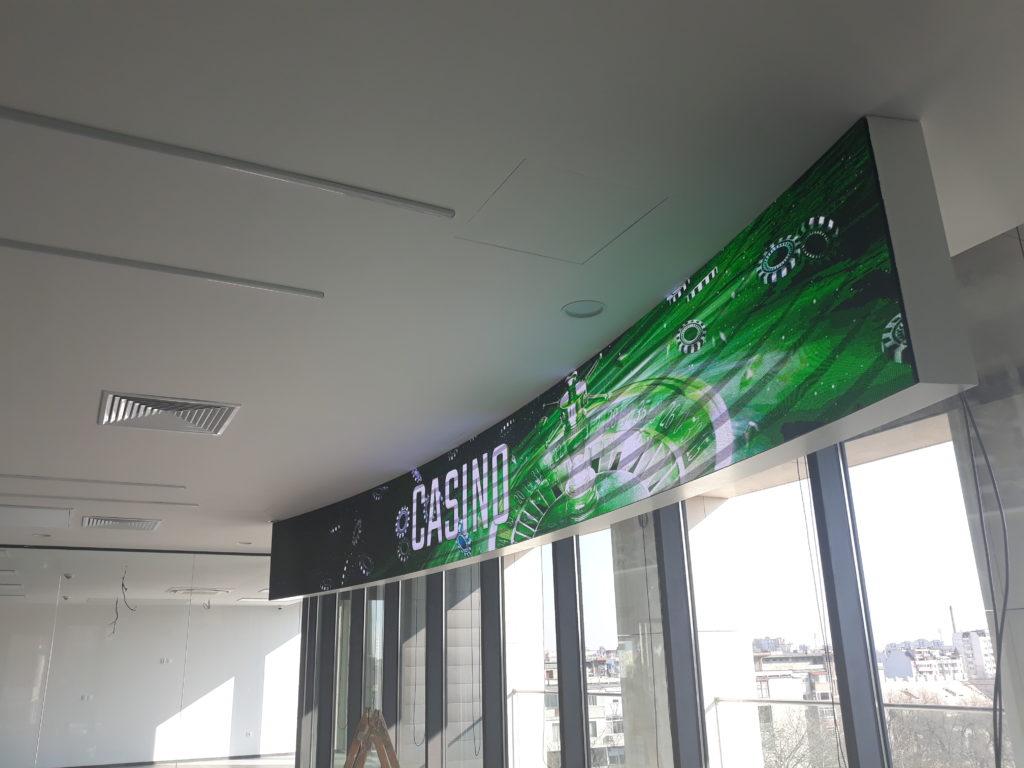 Извит LED екран Р2